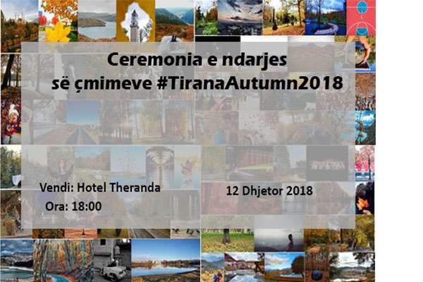 Award ceremony of #TiranaAutumn2018 contest
