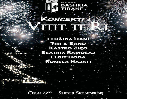 New Year's Eve concert at Skanderbeg Square, New Year's celebrations in Tirana, New Year's events in Tirana, Events in Tirana, Visit Tirana