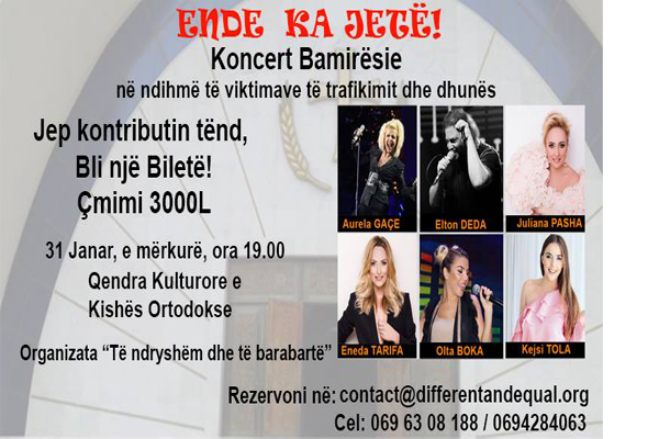 Charity concert in Tirana, concerts in Tirana, events in Tirana, activities in Tirana