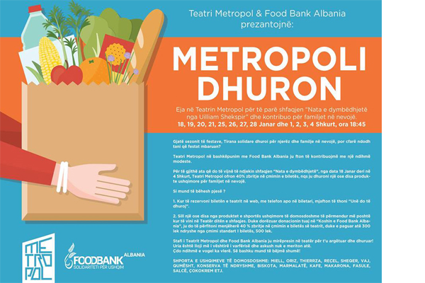 Metropoli Donates, theater shows in Tirana, events in Tirana, activities in Tirana