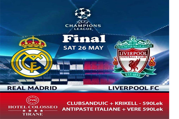 Champions League Final at Hotel Colosseo Tirana, Hotel Colosseo Tirana, Events Tirana