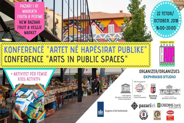 conference of arts in public spaces, conference in tirana, events in tirana