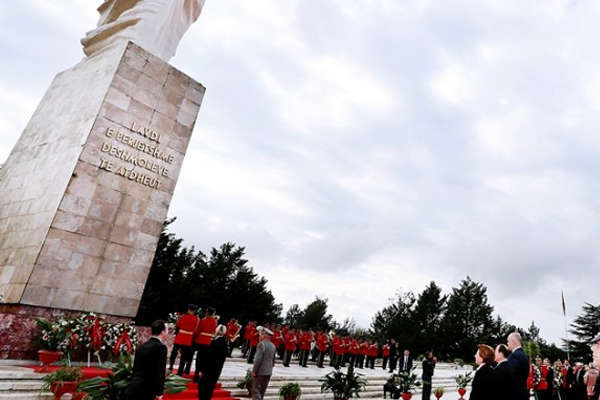 The National Liberation Day of Albania, events in tirana