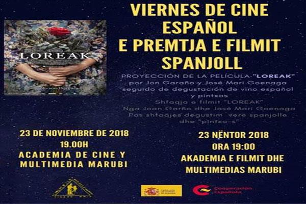 'loreak'-e premtja e filmit spanjoll, filma spanjoll ne tirane, evente ne tirane