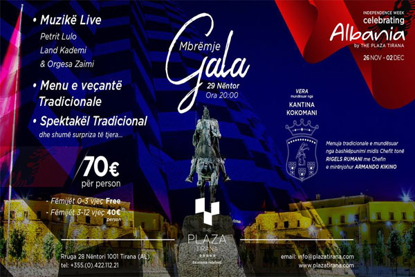 gala night in albania, celebrating albania, events in tirana
