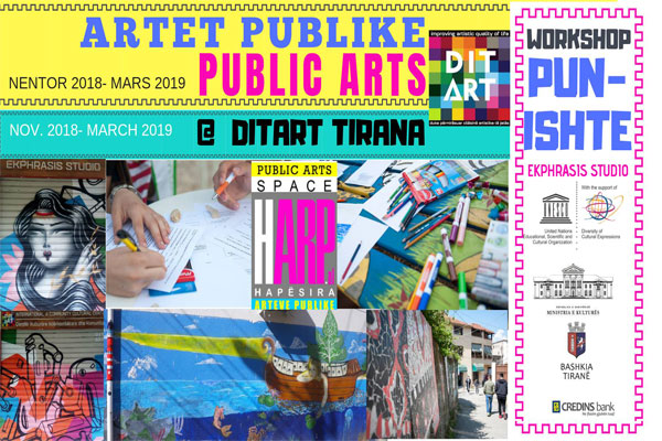 public arts in tirana, art workshop in tirana, events in tirana