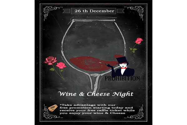 Wine & Cheese Night at Prohibition
