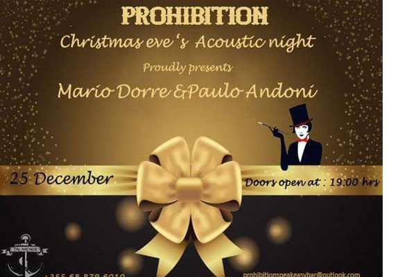 Christmas party at Prohibition bar in Tirana