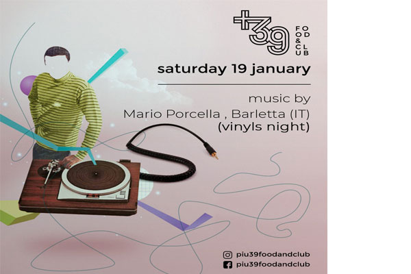 Vinyl's night at Più39Food&Club Tirana
