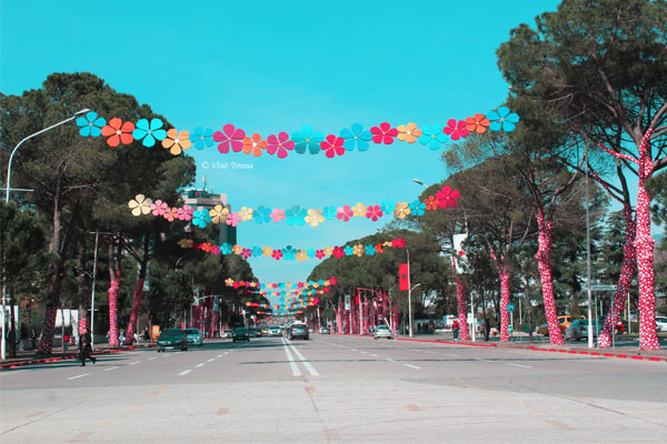 Summer Day Festival in Tirana Albania