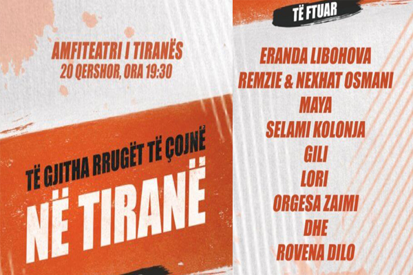 All roads lead to Tirana- concert