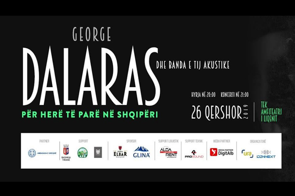 George Dalaras and its acoustic band in Tirana