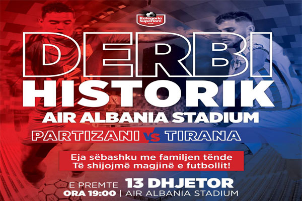 Historical football match Partizani - Tirana